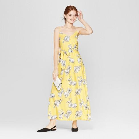 9c2306ed4794e1 Women s Floral Print Sleeveless Maxi Dress - A New Day™ Yellow   Target