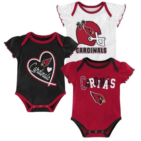 hot sale online 07a94 9cd0d NFL Arizona Cardinals Baby Girls' Newest Fan 3pk Bodysuit Set - 6-9M