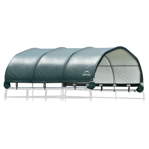"12' X 12' Corral Shelter 8"" 7.5 Oz. Green Cover (Corral Panels Not Included) - Shelterlogic - image 1 of 5"
