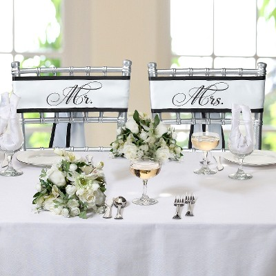 Mr. and Mrs. Wedding Chair Backers