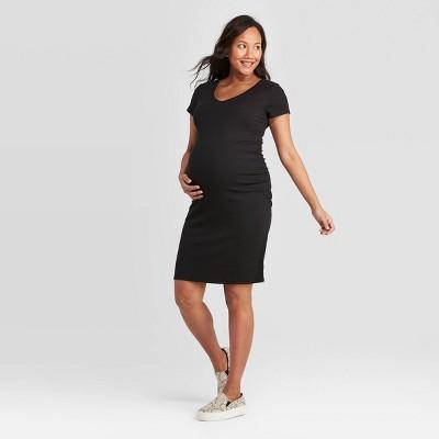Short Sleeve Rib T-Shirt Maternity Dress - Isabel Maternity by Ingrid & Isabel™