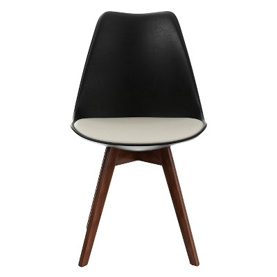 Set of 2 Celine Upholstered Dining Chair with Walnut Legs - Aeon