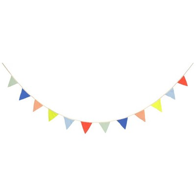 Meri Meri Multicolor Pennant Garland – Party Decorations and Accessories - 9'