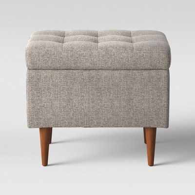 Lemoor Mid Century 22  Ottoman with Storage - Linen - Project 62™