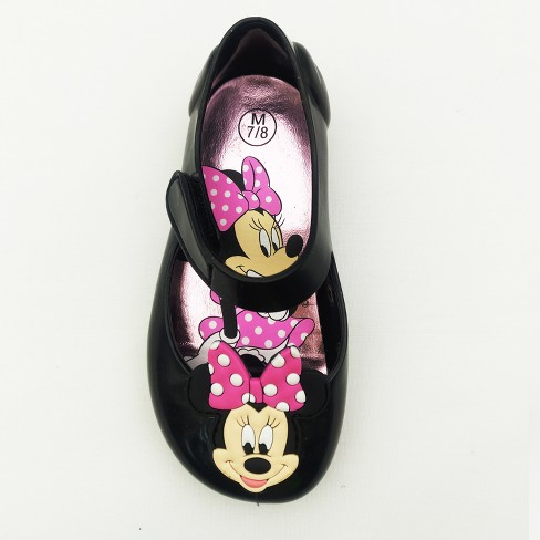 978d0a5be28b0 Toddler Girls' Disney Minnie Mouse Jelly Mary Jane Shoes - Black XL