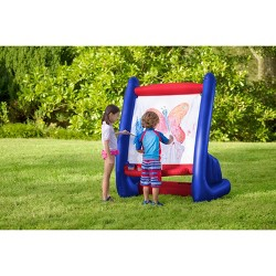 HearthSong Kids' Inflatable Easel With Paints