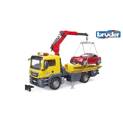 Bruder MAN TGS Tow Truck with BRUDER Roadster and Light & Sound Module
