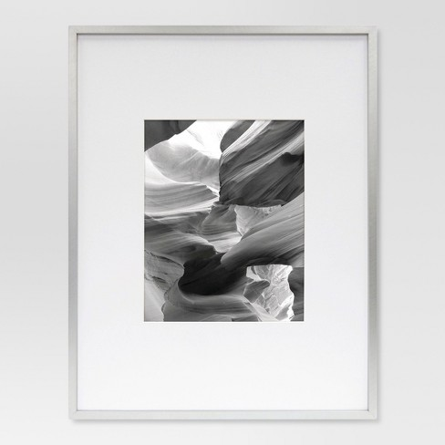 Metal Single Image Matted Frame 8x10 Brushed Silver