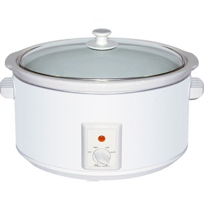 Brentwood 8.0 Quart Slow Cooker in White