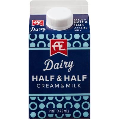 Anderson Erickson Half & Half Cream & Milk - 1pt