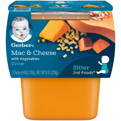 Gerber 2nd Foods, Macaroni and Cheese with Vegetables - 4oz 2pk