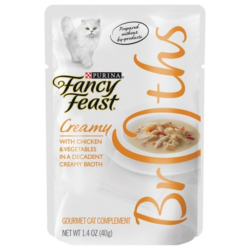 Purina Fancy Feast Broths Creamy With En Vegetables Cat Food 1 4oz Pouch