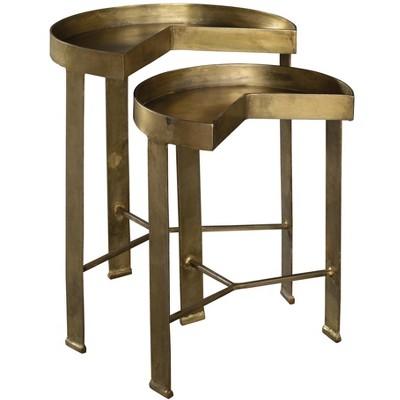 Hekman 28410 Hekman Brass Nest Of Tables 2-8410 Special Reserve
