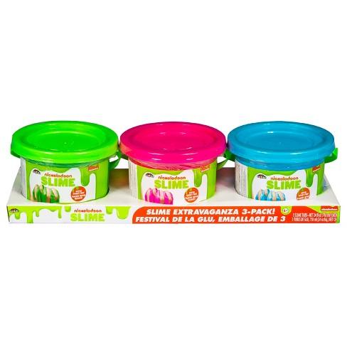 Nickelodeon 3pk 24oz Premade Slime - image 1 of 4