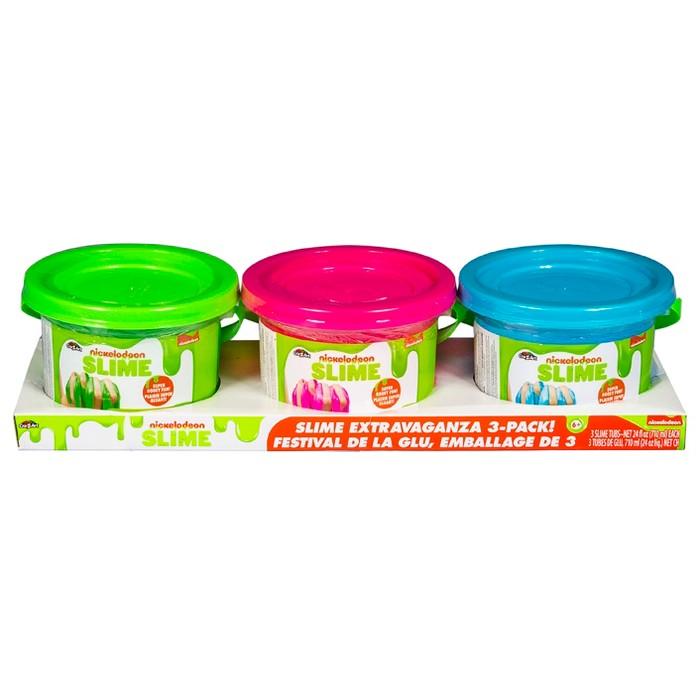 Nickelodeon 3pk 24oz Premade Slime - image 1 of 5