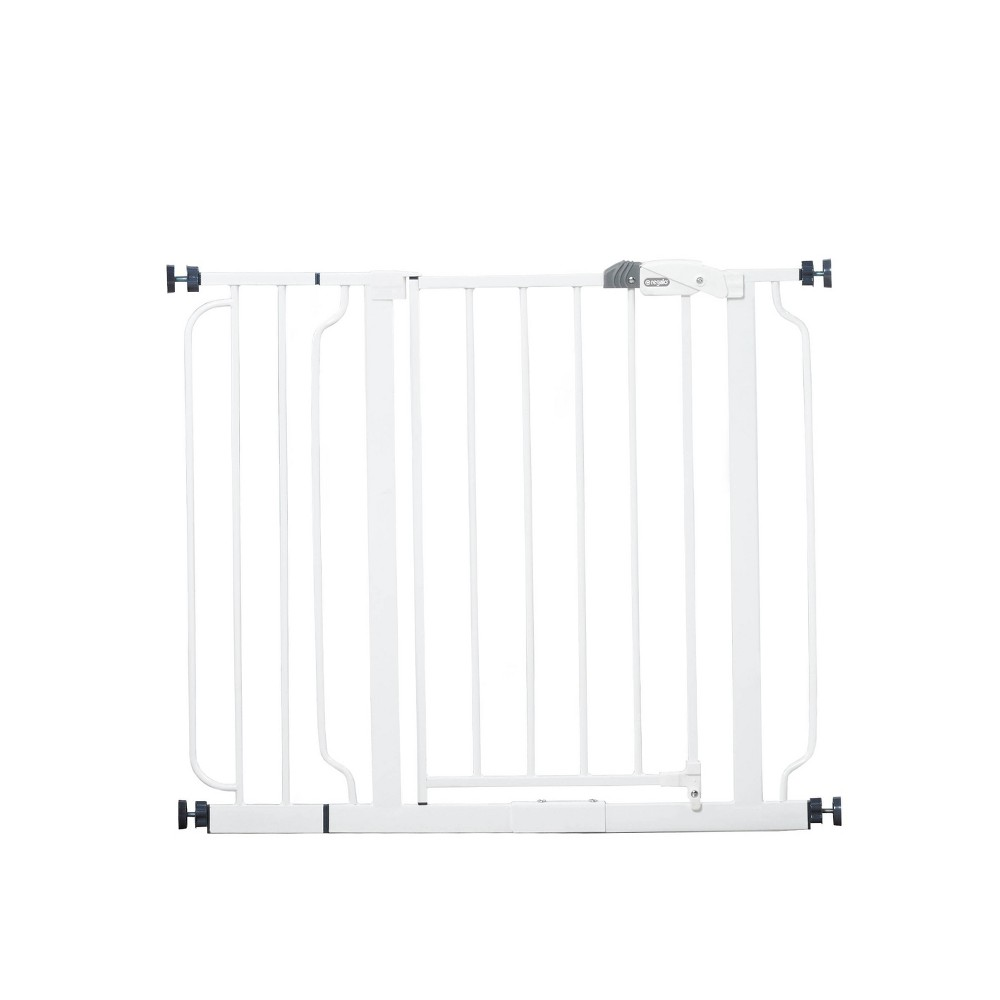 Image of Regalo Easy Step Metal Walk -Through Gate, White