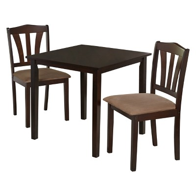 3pc Mainfield Dining Set Espresso Brown - Buylateral