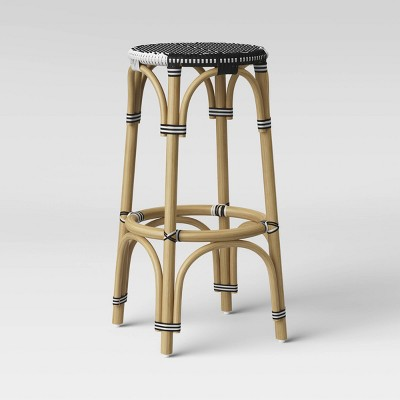 Perry Rattan Backless Woven Barstool - Threshold™