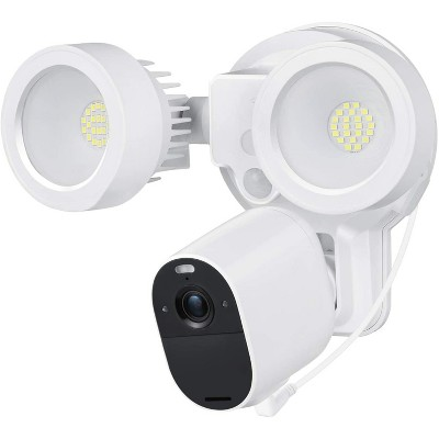 Wasserstein 3-in-1 Floodlight, Charger and Mount for Arlo Essential Spotlight and Essential XL Spotlight Camera (Camera Not Included) (White)