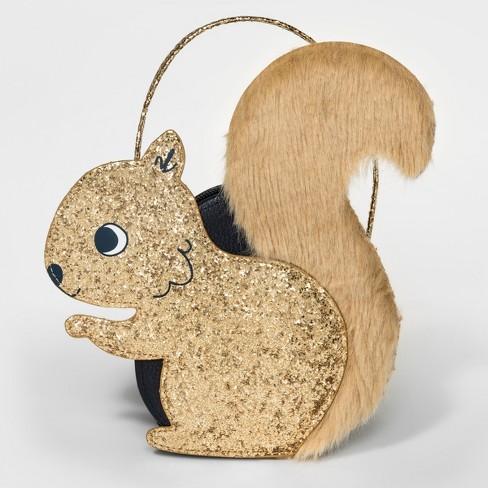Toddler Girls' Squirrel Satchel Handbag - Cat & Jack™ Gold - image 1 of 1