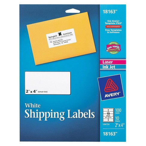 Avery 100ct White Shipping Label Target