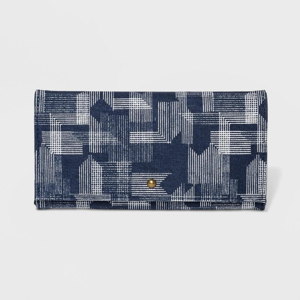 Women's Flap Tri-Fold Wallet - Universal Thread Navy (Blue)