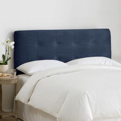 Dolce Microsuede Headboard - Premier Lazuli Blue - California King - Skyline Furniture