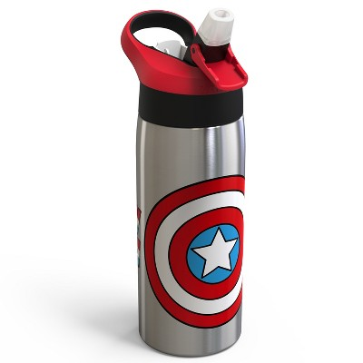 Marvel Captain America 19oz Stainless Steel Water Bottle Red/Blue - Zak Designs