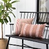 18x18 Stripe Square Pillow Dusty Rose / Light Pink - Hearth & Hand™ with Magnolia - image 2 of 4