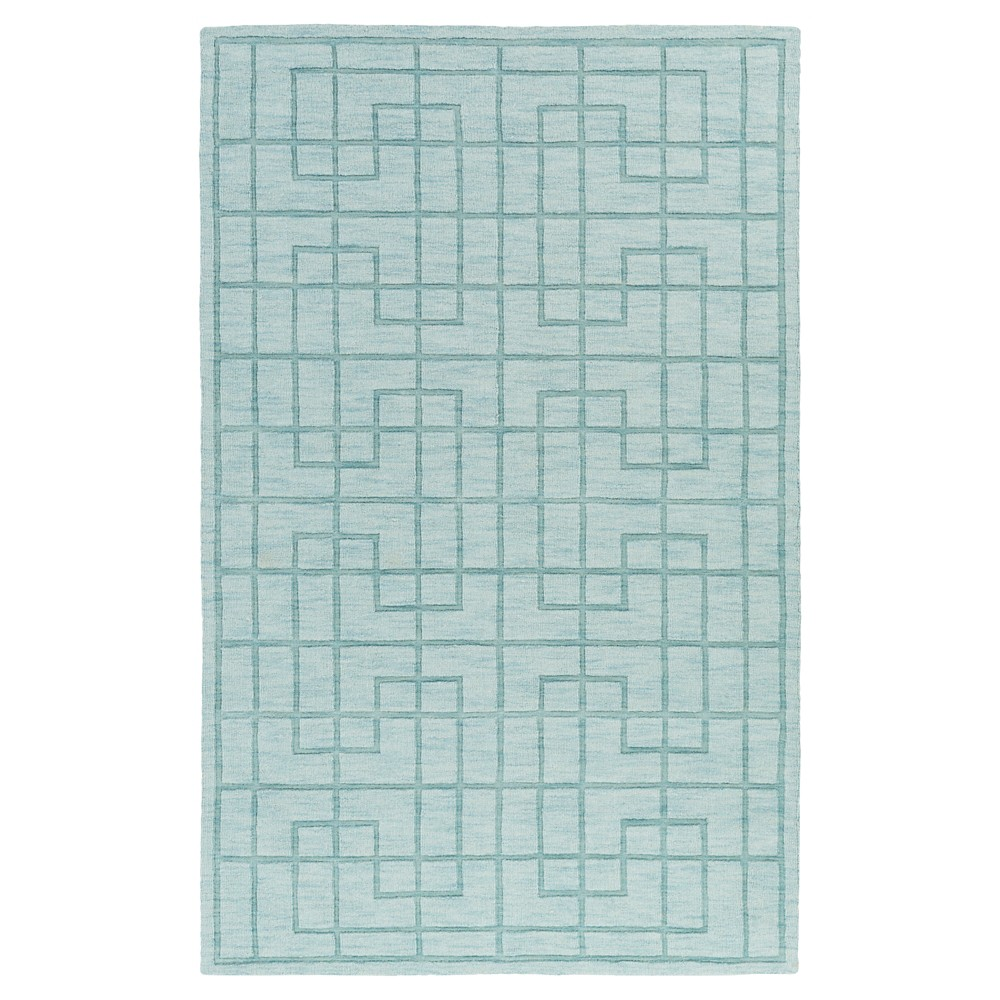 Khaki Abstract Loomed Accent Rug - (2'X3') - Surya, Blue