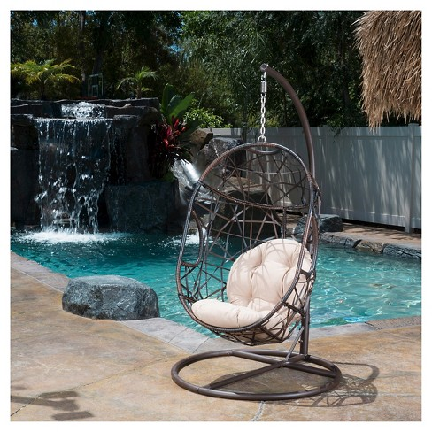 - Egg Wicker Patio Chair - Brown - Christopher Knight Home : Target