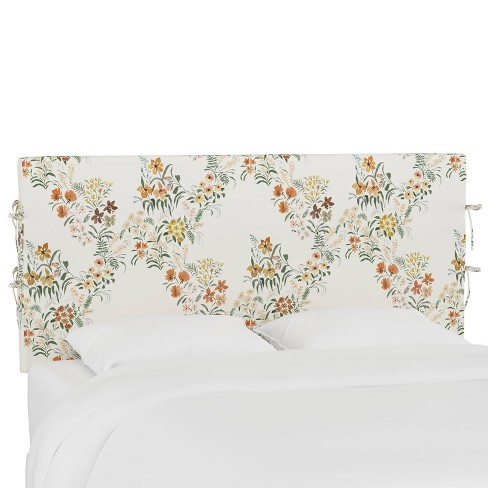 Queen Slipcover Headboard with Ties Lucinda Floral Harvest - Cloth & Company - image 1 of 4