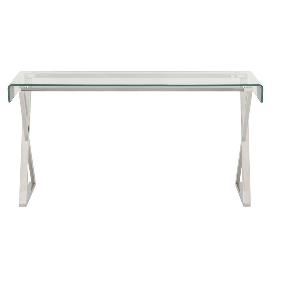 Console Table Chrome (Grey) - Safavieh