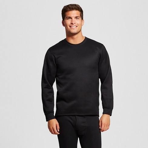 Men's Coldpruf Expedition Fleeced Thermal Top Black L -Thermal Underwear - image 1 of 2