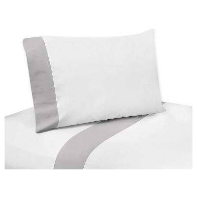 White & Gray Sheet Set (Queen)- Sweet Jojo Designs®
