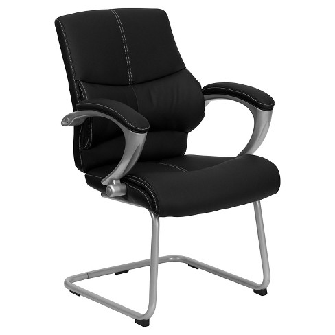 Executive Side Chair Black Leather - Flash Furniture - image 1 of 4
