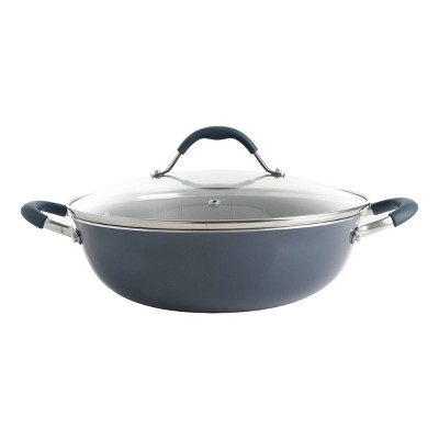 Cravings by Chrissy Teigen 5qt My Go To Aluminum Non-Stick Everyday Pan with Lid - Blue