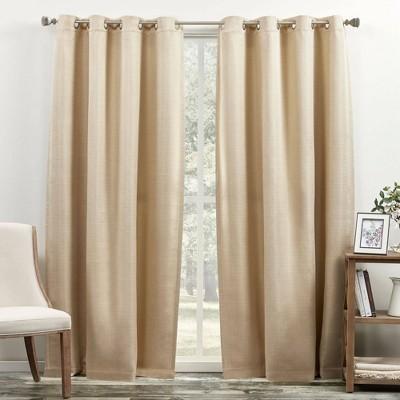 "84""x52"" Bastian Room Darkening Curtain Panel - Exclusive Home"
