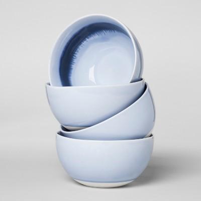 23oz 4pk Valetta Porcelain Cereal Bowl Blue - Project 62™