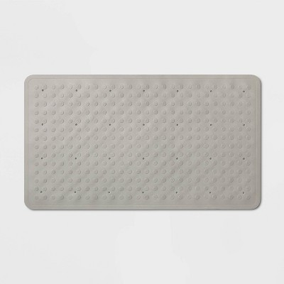 28 x16  Rubber Bath Mat Gray - Made By Design™