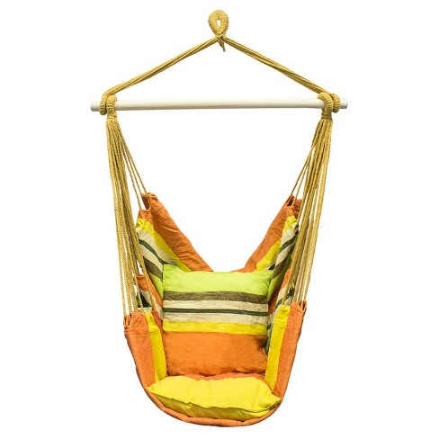 Sorbus Hanging Rope Hammock Chair Swing Seat For Any Indoor Or Outdoor Spaces - image 1 of 3
