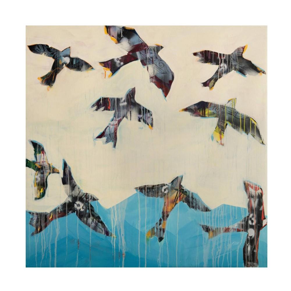 18 34 X 18 34 Kellie Day 39 Ravens Rising 39 Unframed Canvas Art Trademark Fine Art