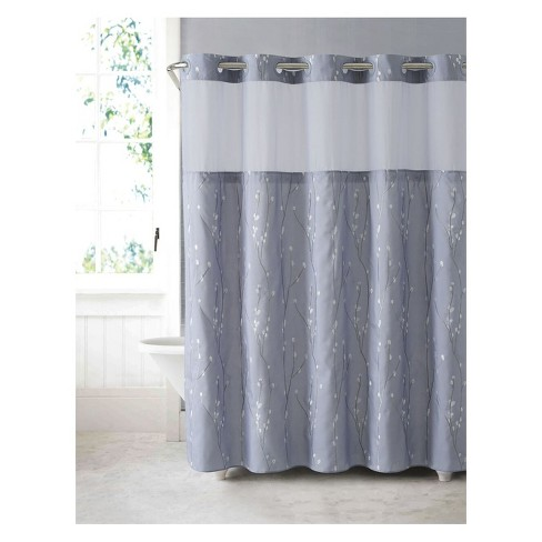 Hookless Cherry Bloom Shower Curtain With Liner White Lilac Target