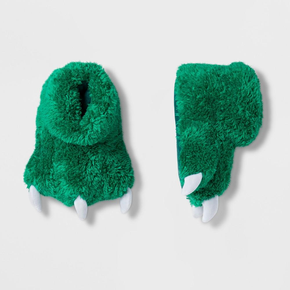 Baby Girls' Furry Dino Slipper - Cat & Jack Green 2T-3T