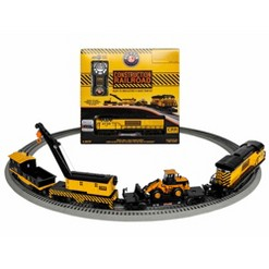 """""""Lionel Construction Railroad Lion Chief Train Set with Working Crane, Yellow"""""""