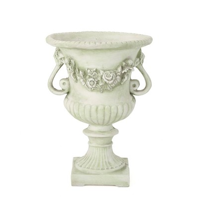 "24"" Buena Vista Cast Stone Patio Urn Planter White - Christopher Knight Home"