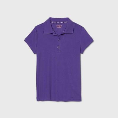 Girls' Short Sleeve Performance Uniform Polo Shirt - Cat & Jack™ Purple