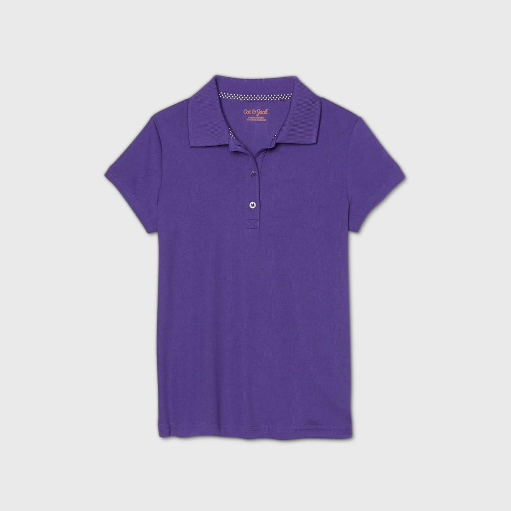 Girls 39 Short Sleeve Performance Uniform Polo Shirt Cat 38 Jack 8482 Purple Xl