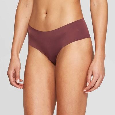 Women's Laser Cut Cheeky Underwear - Auden™ Burgundy Mist M