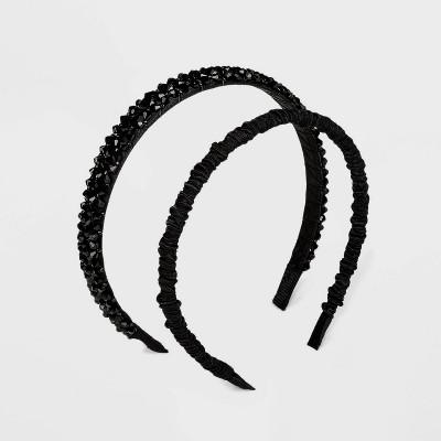 SUGARFIX by BaubleBar Mixed Media Headband Set - Black